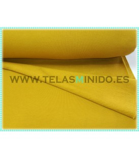 Sudadera French Terry liso color mostaza