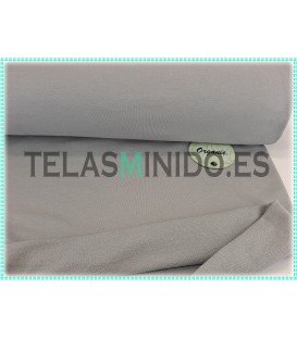 Sudadera orgánica french terry lisa gris medio