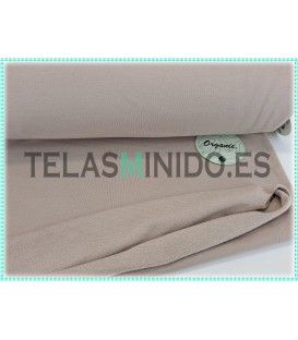 Sudadera orgánica french terry lisa beige oscuro